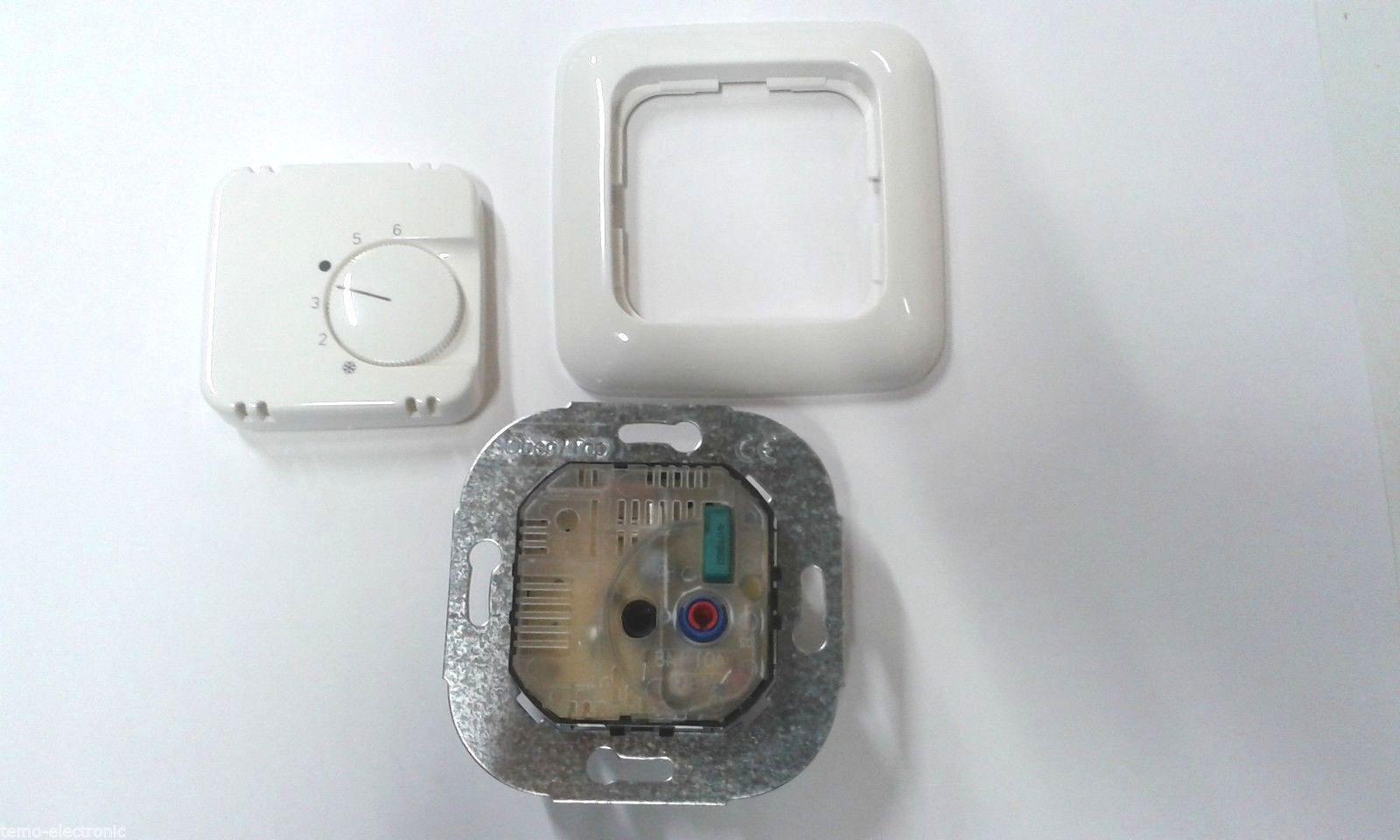 BEKA Raumthermostat Temperaturregler BK761+Busch Jäger Reflex SI Rahmen 2511-214 | Gute Qualität