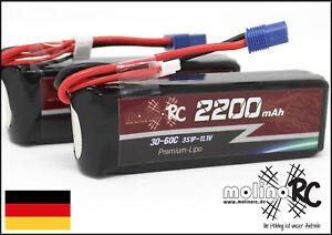 2x-molinoRC-BRD-Akku-2200mAh-3S-30C-60C-EC3-NEU-Lipo-11-1V-Horizon-Hobby-EC3