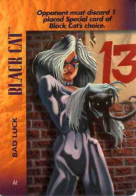 CCG Marvel DC Image Ungraded OverPower Black Cat Bad Luck
