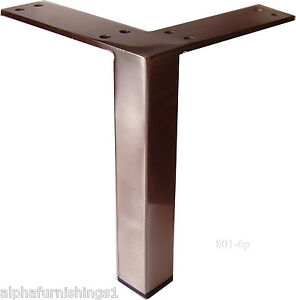 Metal furniture legs metal legs for furniture sofa cabinet 6 quot brushed