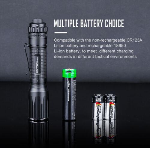 Nextorch TA30 S Tactical LED Taschenlampe 1300 Lumen Nano-Glasbrecher USB-Akku