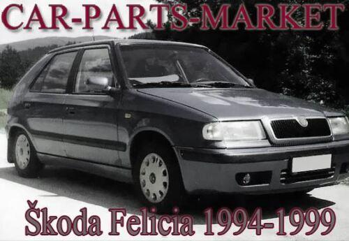 Right Driver Side Wing Door Mirror Glass for SKODA FELICIA 1994-2001
