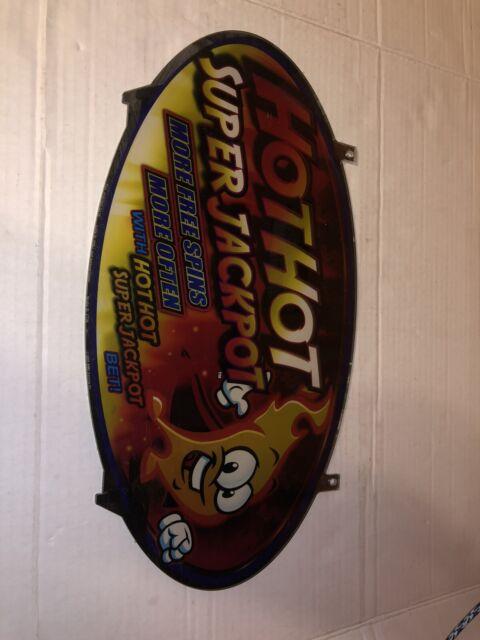 Hot Hot Super Jackpot Slot Machine Plexiglass Topper ...