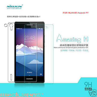 GENUINE NILLKIN HUAWEI ASCEND P7 H 9H TEMPERED GLASS GUARD SCREEN PROTECTOR