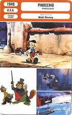 Movie Card. Fiche Cinéma. Pinocchio (USA) Walt Disney 1940