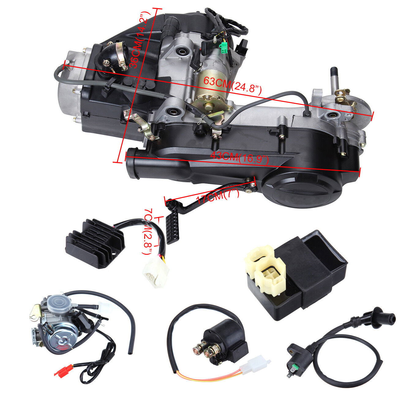 150CC GY6 Single Cylinder 4-Stroke Engine Motor Carburettor For Vehicles
