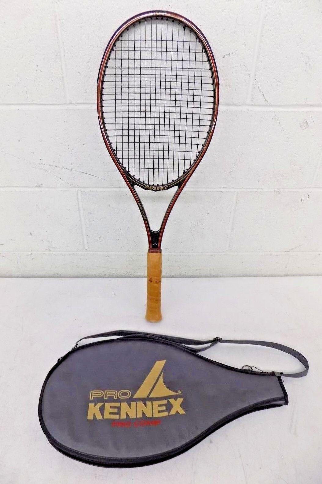 Vintage Pro Kennex Pro Comp Graphite Tennis Racquet w 4-1 2  Grip & Case MINTY
