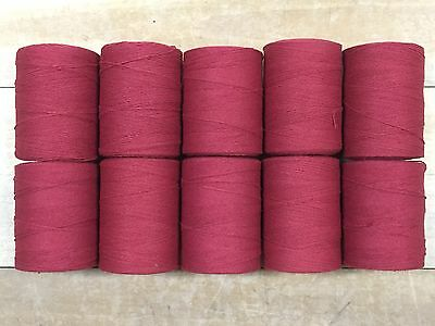 8//4 Cotton // Polyester Blend Lot of 10 spools Color Sage Green Rug Warp