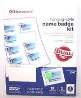 Office Depot Name Badge Insert Refills, 2-1/4 X 3-1/2, Box Of 400 (5390)