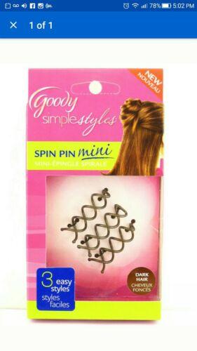 3 Goody Revlon Scunci Simple wedding Styles SPIN PIN MINI DARK HAIR