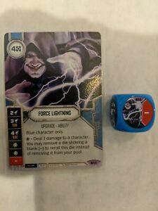 Force lightning #14 Star Wars Destiny Spirit of Rebellion Legendary w// die