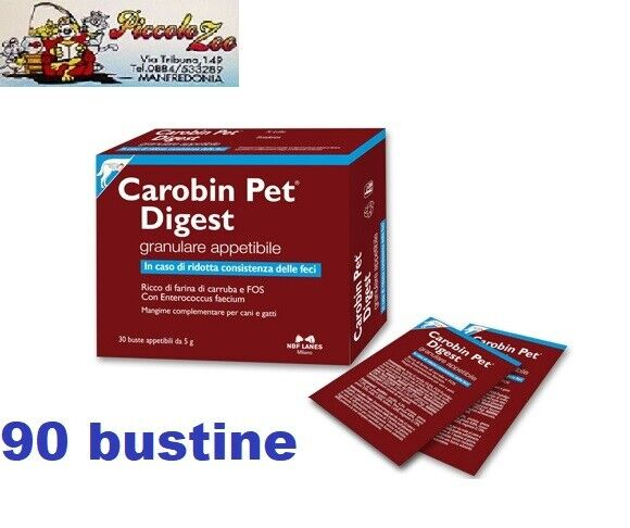 Carobin Pet Digest granulare appetibile cani e gatti 30-60-90-120 30-60-90-120 30-60-90-120 bustine da 5gr c4ef32