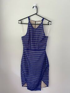 Ladies Cooper St Blue Striped Dress Size 8