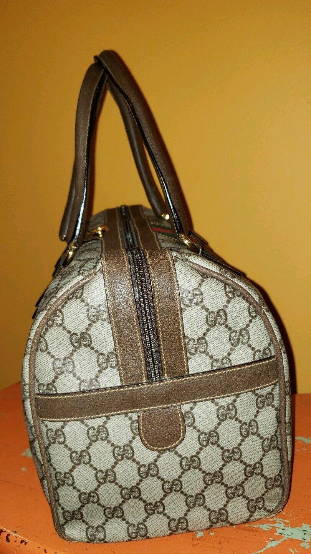 Vintage Gucci GG Monogram Boston Brown Speedy Bag… - image 3
