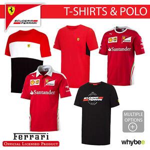 La imagen se está cargando Ferrari-F1-Formula-Uno-Equipo-Para-hombres- Camiseta- e670be43b82