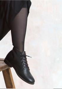 BNWT Gudrun Sjoden Size L UK 16-18 Black Footless Tights