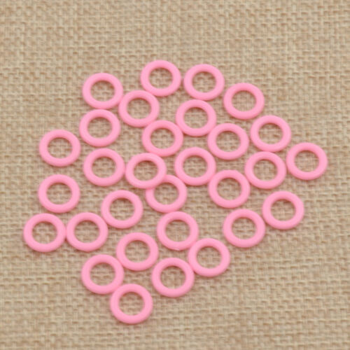 Colorful Plastic Ring Stitch Markers Holder Knitting Needlecraft One Pack Set