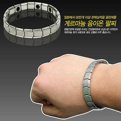 Titanium Power Nano Energy Germanium Balance Sport Silver Bio Bracelet Wristband
