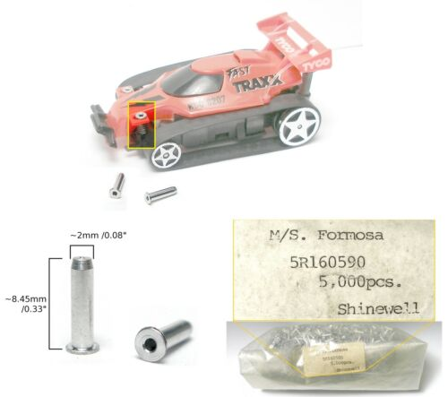 2 1987 TYCO AERO TURBO Hopper Fast Traxx Slot Car FRONT SPRING HOLDER STRUT RaRe