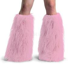 Yeti-01 boot faux fur covers fuzzy legwarmers furry fluffies baby pink raver