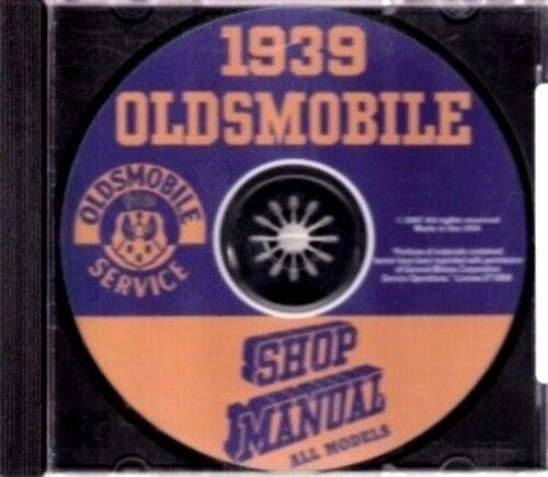 OLDSMOBILE 1939 Shop Manual CD Olds 60 70 /& 80 Series