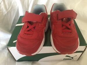 Red-Puma-Trainers-Size-5-child