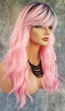 LONG CURLY COSTUME WIG HALLOWEEN PARTIES FANTASY *ROOTED PEONY NITE 1078