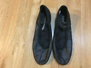 Girls-Dance-Ballet-Heel-Black-Shoes-Size-10