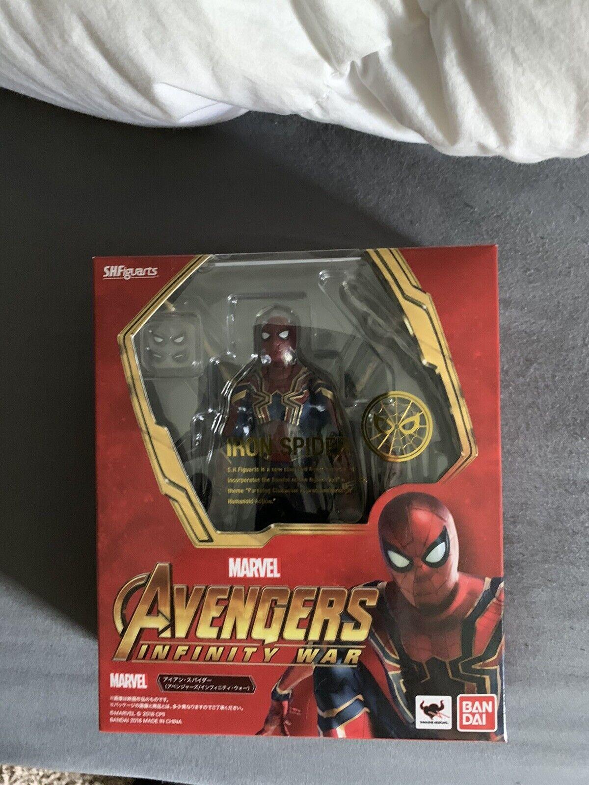 SH Figuarts Iron Spideruomo Infinity guerras Marvel Authentic
