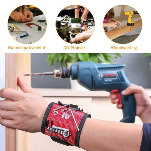 Magnetic Wristband with 10 Powerful Magnets Easily Holding Screws Nails FREE PP