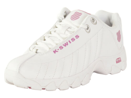 K-Swiss Women/'s ST-329-CMF White//Shocking Pink Memory Foam Sneakers Shoes