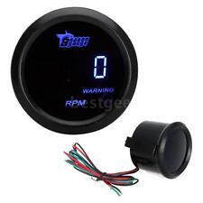 "52mm 2"" LCD Auto Car Digital Tachometer Tach Gauge Meter 0~9999RPM Blue LED M6V3"