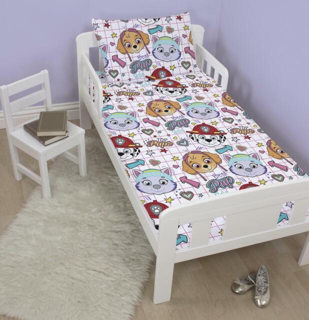 Paw Patrol 50 Cotton Toddler Junior Cot Bed Duvet Cover ...