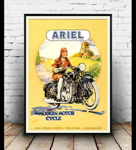 Ariel-motorcycle-1930-Vintage-advertising-poster-reproduction