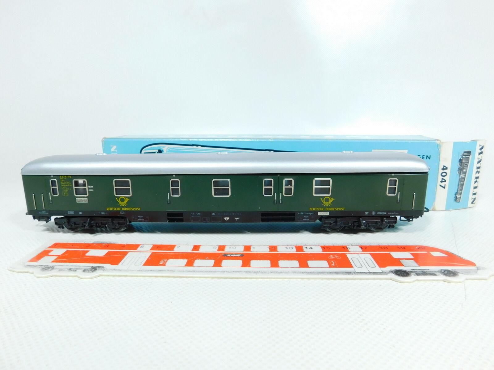 BV129-0,5 Märklin H0   Ac 4047 Tren Vagón Correo Deutsche Bundespost 4m-b 26;