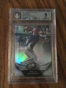 2011-BOWMAN-PLATINUM-PROSPECTS-BRYCE-HARPER-REFRACTOR-ROOKIE-RC-BGS-9