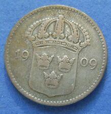 ZWEDEN SWEDEN 10 ORE 1909 KM# 780