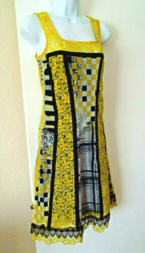 ***SAVE THE QUEEN Italy Sz M textured DRESS multi… - image 1