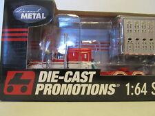 DCP 1/64 SCALE 379 PETERBILT FLAT TOP (BUCKSHOT EXPRESS) WITH CATTLE TRAILER