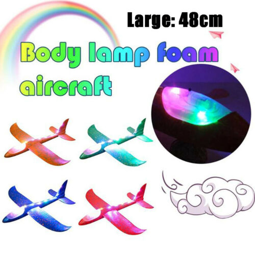 48 cm nuit avion jouet PPE Mousse DEL Hand Throwing avion Jouets Planeur Light