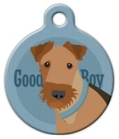 Good Boy Airedale - Custom Personalized Pet Id Tag For Dog And Cat Collars