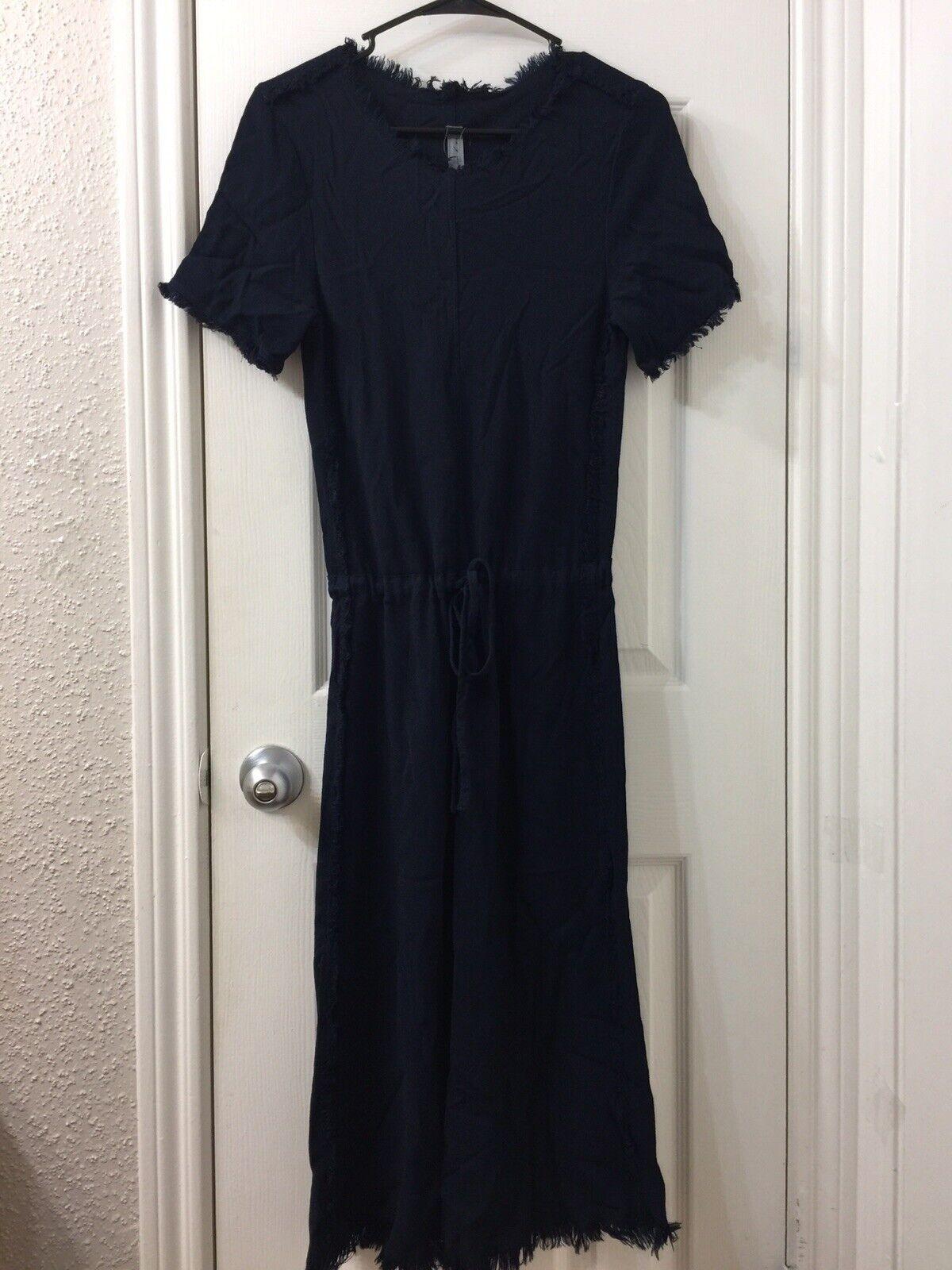 Raquel allegora Navy blå Crepe Dress Sz 1