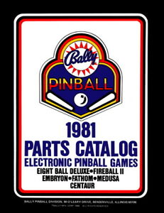 reputable site buy cheap popular stores Details about 1981 Bally Electronic Pinball Parts Catalog Service & Repair  Game Manual NEW PPS