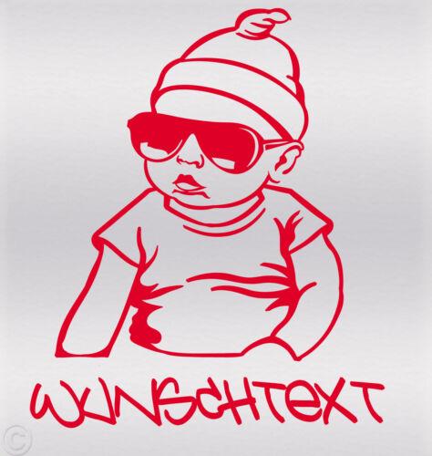 Wunschname on Board Baby Aufkleber Hangover sticker Kind an Bord Fun Carlos