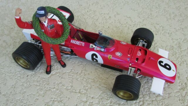 Exoto Ferrari 312 B Auto da Corsa Andretti Statuetta Primo Vincitrice S.Africano
