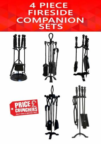 black fire companion set fireside shovel brush tongs poker. Black Bedroom Furniture Sets. Home Design Ideas