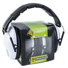 Shooting Firing Gun Range Noise Reduction Ear Muffs Hearing Protection White