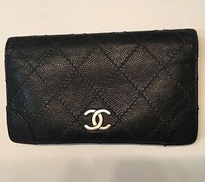 Authentic-Chanel-Quilted-Wallet-Caviar-Black-Leather