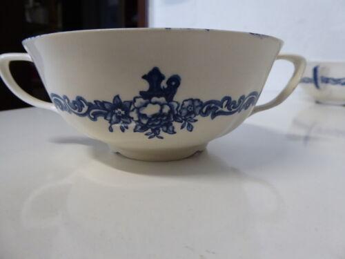 Blau England englische Keramik Steingut Suppentasse Tasse