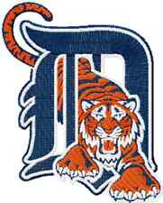 DETROIT TIGERS BASEBALL SET OF 2 BATH HAND TOWELS EMBROIDERED BY LAURA